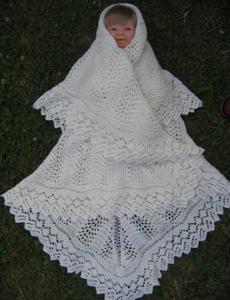 Hæklet babytæppe mary