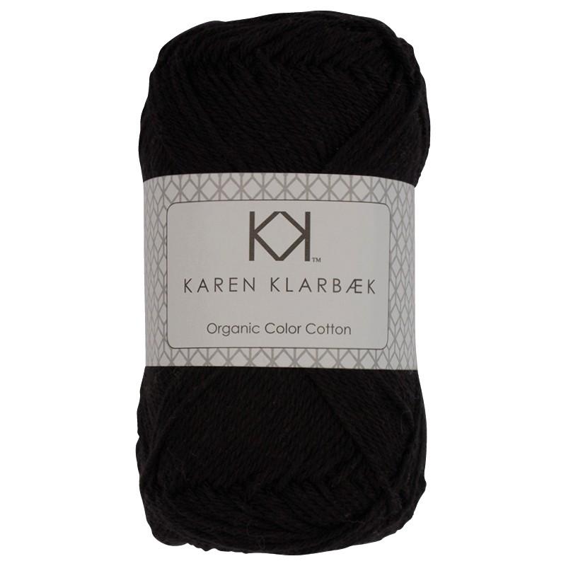 0017 - Black Karen Klarbæk Bomuld 8/4 økologisk
