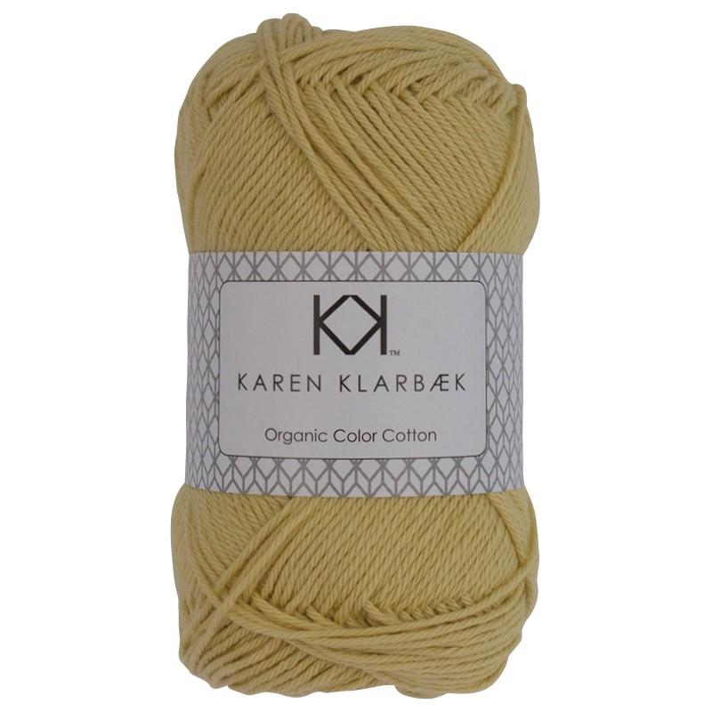 0021 - Pastel Yellow Karen Klarbæk Bomuld 8/4 økologisk