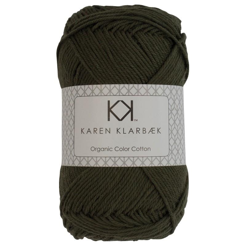 0040 - Dark Olive Karen Klarbæk Bomuld 8/4 økologisk