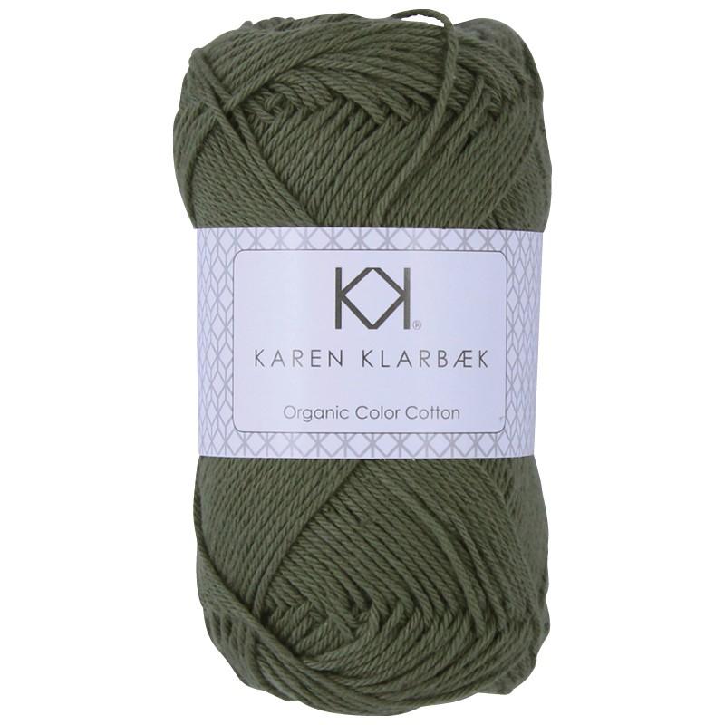 0057 - Olive Green Karen Klarbæk Bomuld 8/4 økologisk