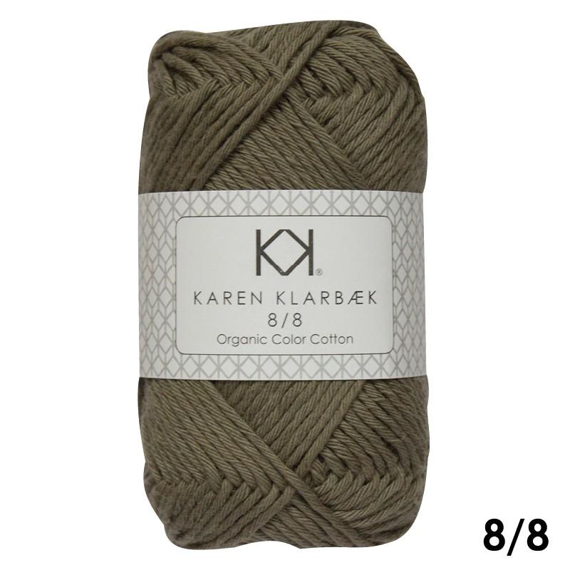 1014 Olive Green Karen Klarbæk Bomuld 8/8 økologisk