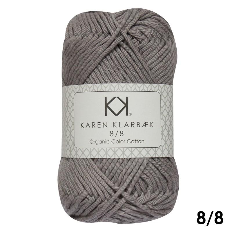 1015 Frost Grey Karen Klarbæk Bomuld 8/8 økologisk