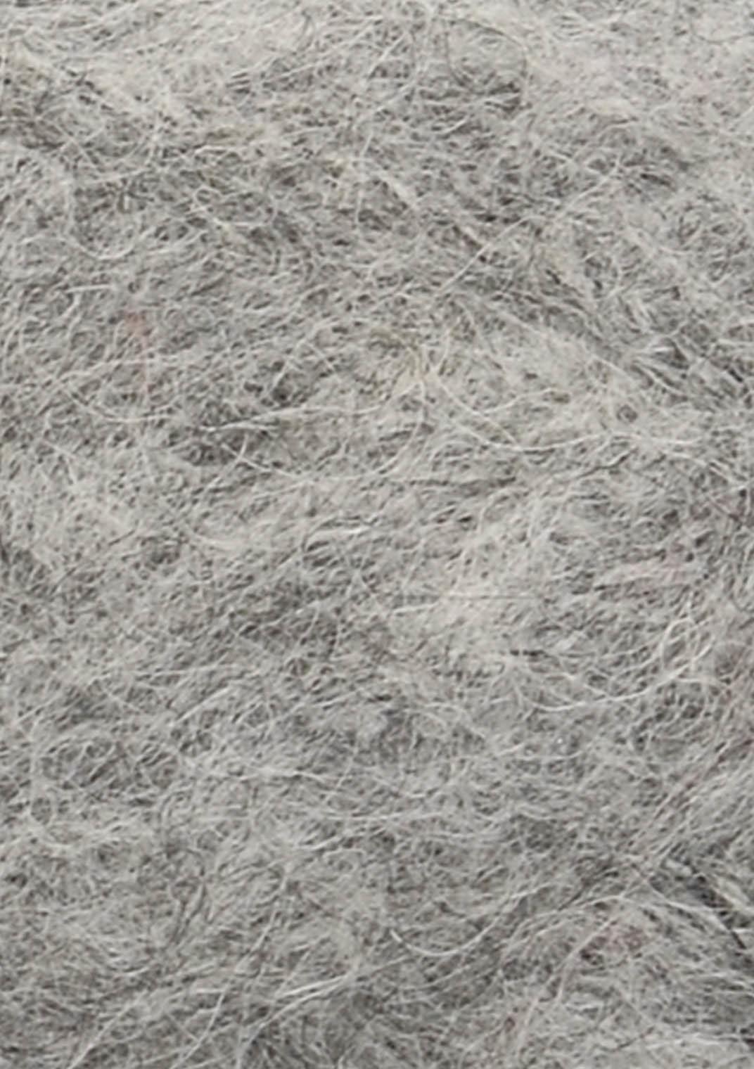 1042 Gråmeleret Børstet Alpakka