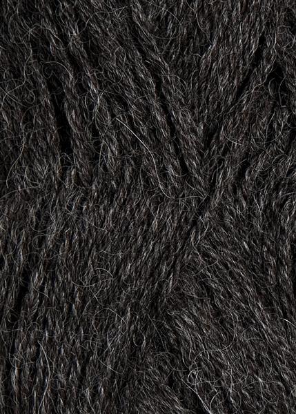 1053 Mørk Gråmelert  Alpakka Uld