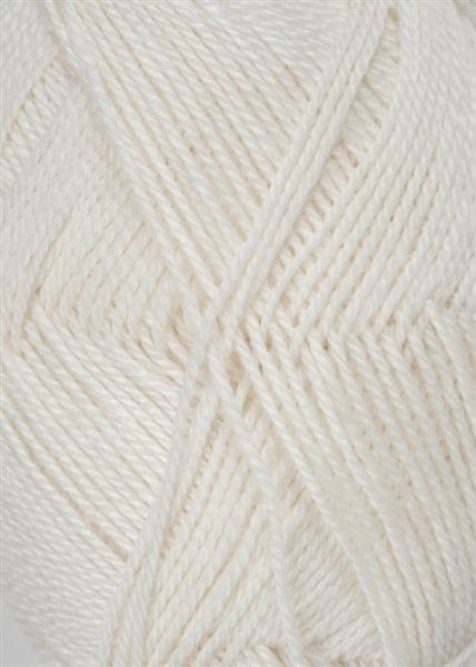 1002 Hvid  Alpakka silke