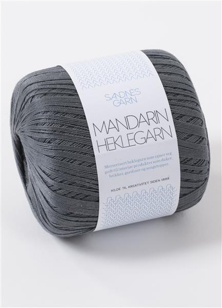 Mandarin Hæklegarn - 100 % merserisert bomuld