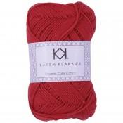 0052 - Poppy Red Karen Klarbæk Bomuld 8/4 økologisk