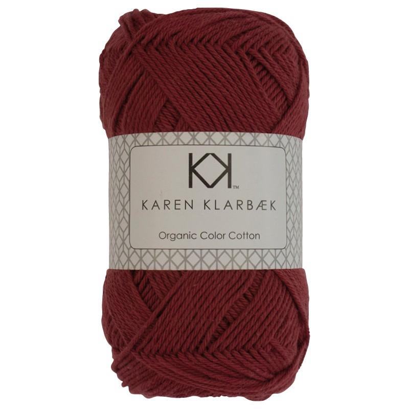 0035 - Dark Brick Red Karen Klarbæk Bomuld 8/4 økologisk