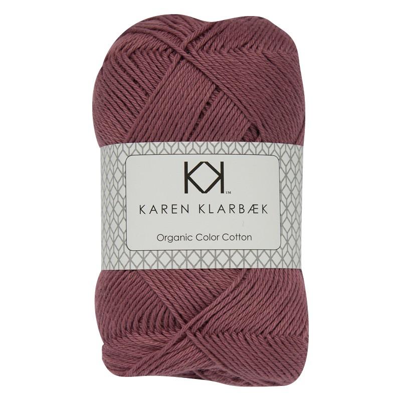 0046 - Plum Karen Klarbæk Bomuld 8/4 økologisk