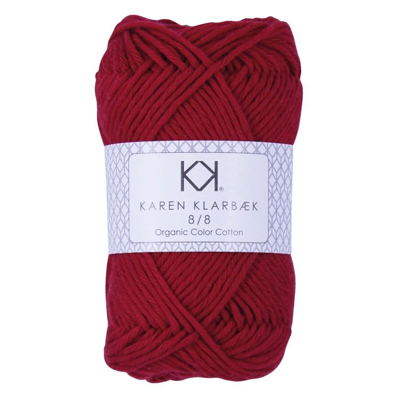 1024 - Dark Christmas Red Karen Klarbæk Bomuld 8/8 økologisk