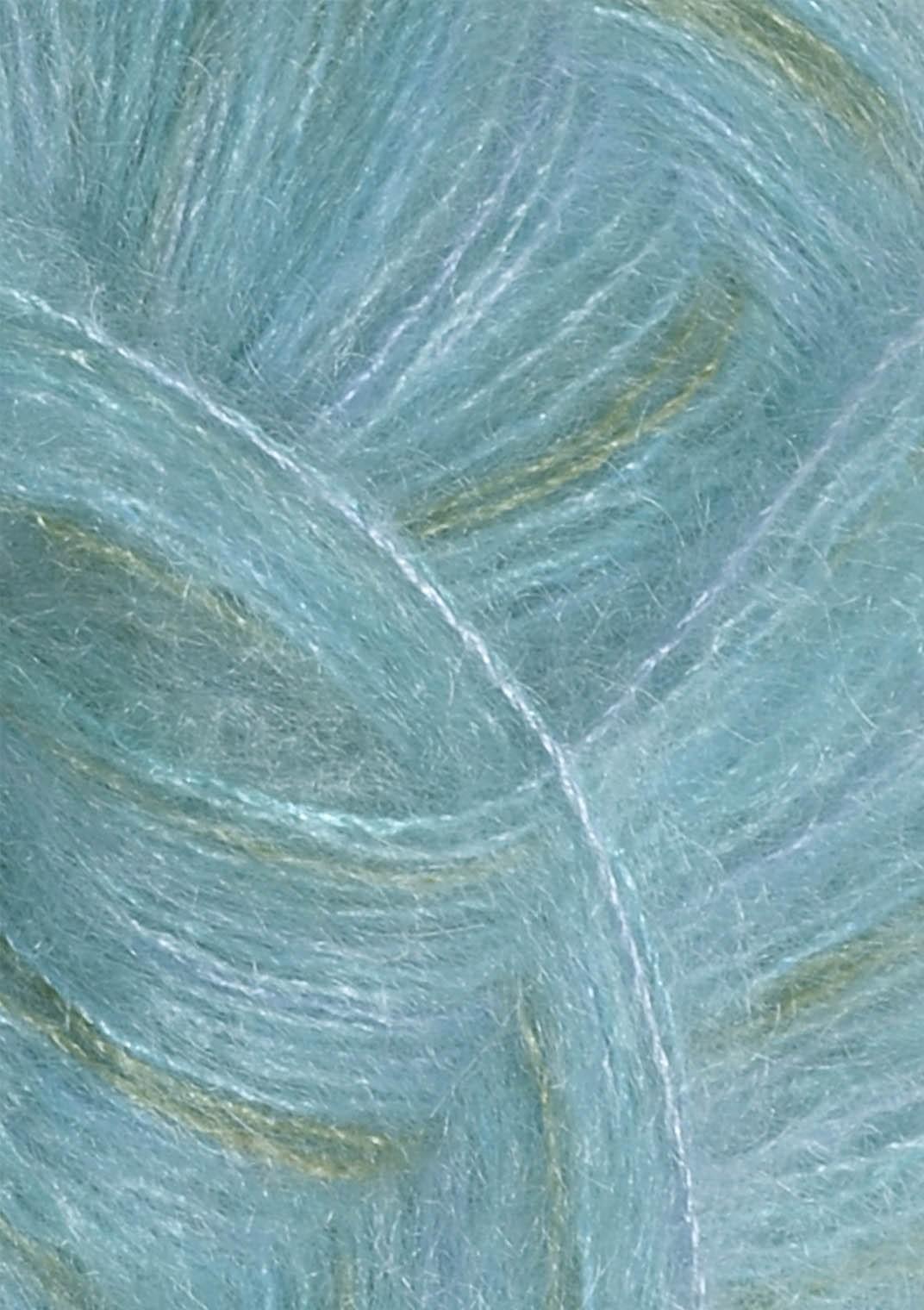6050 Blå print Silk Mohair Sandnes garn