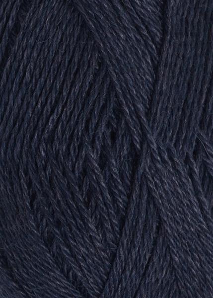 6081 Dyp Blå Alpakka silke