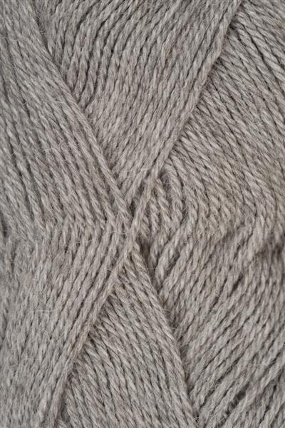 1042 Lys Gråmelert  Alpakka silke
