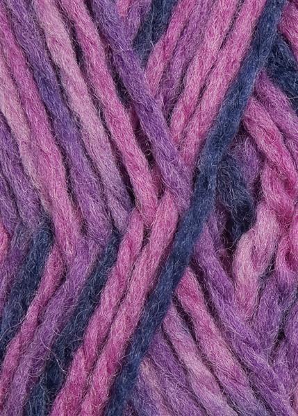 5228 rosa/lilla print Fritidsgarn fra Sandnes