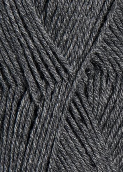 1053 mørk gråmelert Lanett Sandnes garn