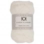 0001 - Bleached White Karen Klarbæk Bomuld 8/4 økologisk
