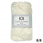 1018 - Nature White Karen Klarbæk Bomuld 8/8 økologisk
